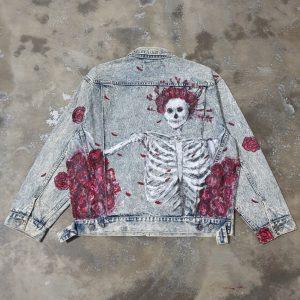 Skeleton Denim Jacket (L)